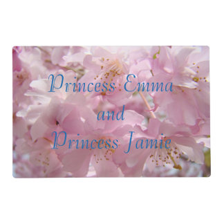 Princess Name placemats Pink Blossoms Sweet Pretty