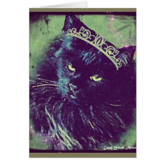 Princess Norwegian Forest Cat Greeting Card