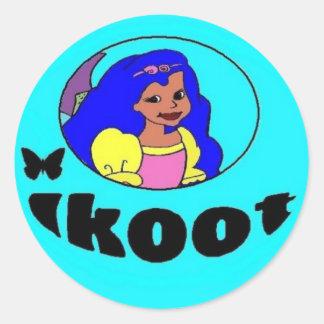Princess Oceanna Sticker blue
