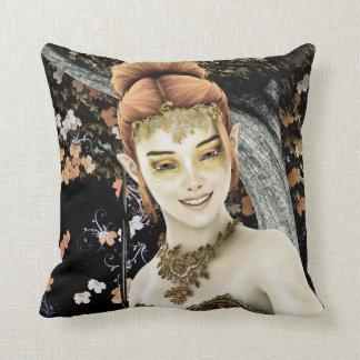 Princess of Autumn Throw Pillow