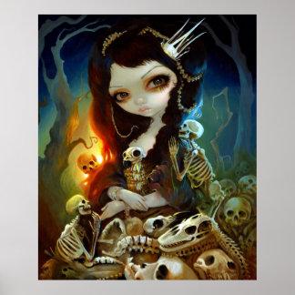 Princess of Bones ART PRINT Lowbrow Art Skeleton