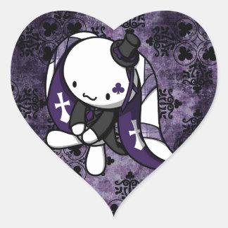 Princess of Clubs White Rabbit Heart Sticker