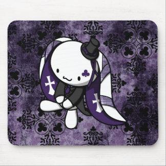 Princess of Clubs White Rabbit Mousepads