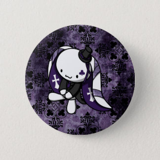 Princess of Clubs White Rabbit Pinback Button