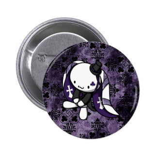Princess of Clubs White Rabbit Pinback Button
