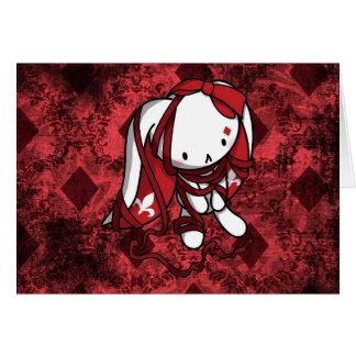 Princess of Diamonds White Rabbit Card