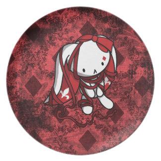 Princess of Diamonds White Rabbit Party Plate