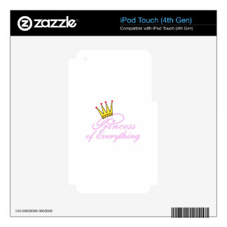Princess Of Everything Skins For iPod Touch 4G
