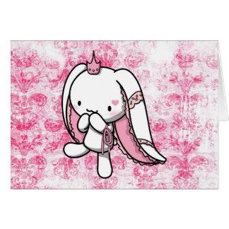 Princess of Hearts White Rabbit Card