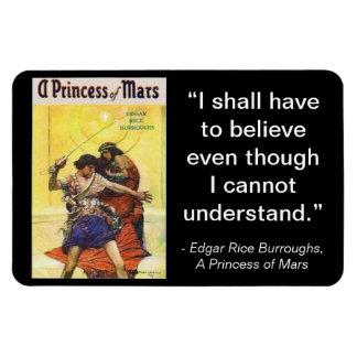 Princess of Mars Book Cover Rectangular Photo Magnet
