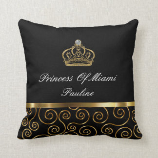 Princess Of Miami Throw Pillow