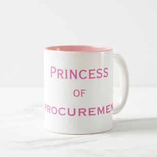 Princess of Procurement Special Female Manager Two-Tone Coffee Mug