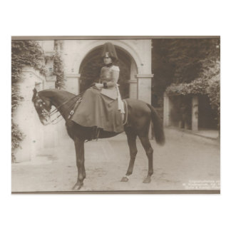 Princess of Prussia in uniform on horse #060SS Postcard