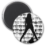 PRINCESS OF ROCK 2 INCH ROUND MAGNET