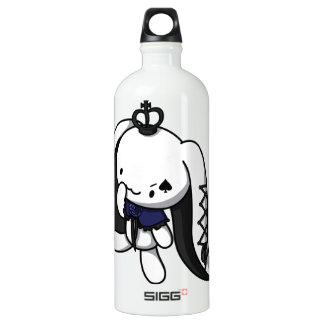 Princess of Spades White Rabbit Water Bottle