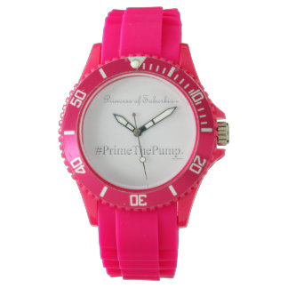 Princess of Suburbia ® # Prime The Pump (Pink) Wristwatches