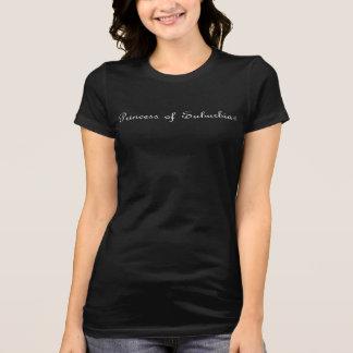 Princess of Suburbia (R) Women's Bella+Canvas B&W T-Shirt
