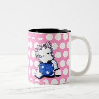Princess Of The Ball Westie Two-Tone Coffee Mug