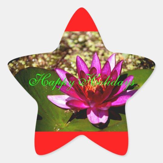 Princess of the Pond Floral/Flower Xmas Star Star Sticker