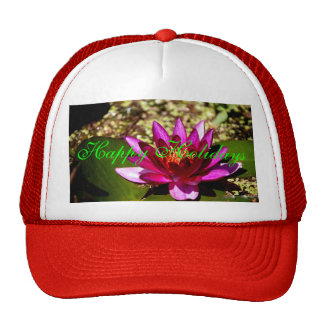 Princess of the Pond Floral Merry Xmas Design Trucker Hat