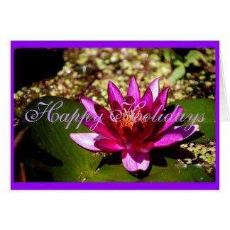 Princess of the Pond Floral Purple Merry Xmas Card