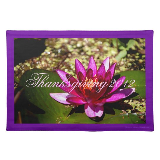 Princess of the Pond Thanksgiving 2012 Design Cloth Placemat