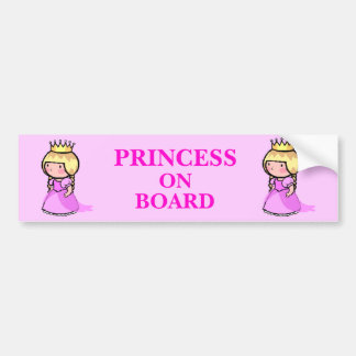 Princess On Board Car Bumper Sticker