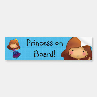 Princess on Board customisable sticker