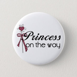 Princess on the Way - Customized Button