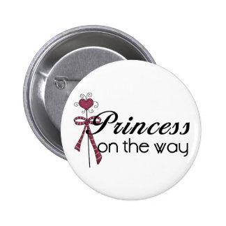 Princess on the Way - Customized Pinback Button
