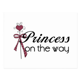 Princess on the Way - Customized Post Card