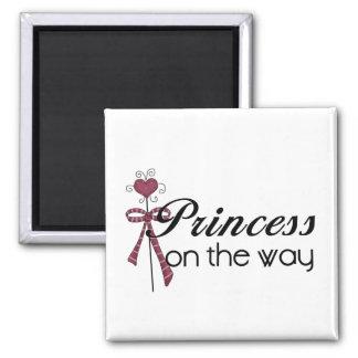 Princess on the Way Fridge Magnets