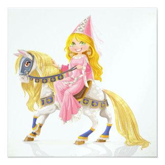 Princess on White Horse - SRF 5.25x5.25 Square Paper Invitation Card