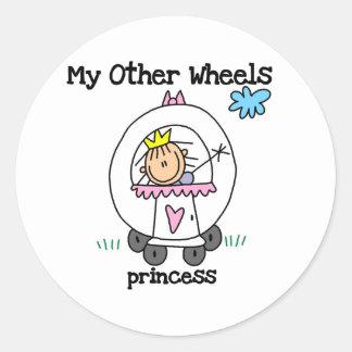 Princess Other Wheels Classic Round Sticker