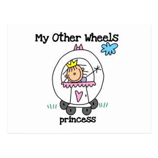 Princess Other Wheels Postcard