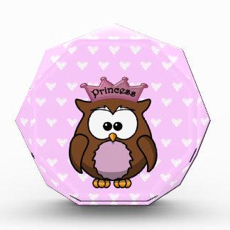 princess owl acrylic award