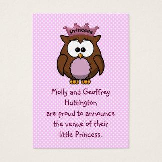 Princess owl business card