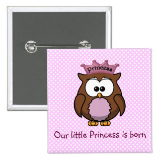 Princess owl buttons