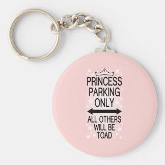 Princess Parking Only Basic Round Button Keychain