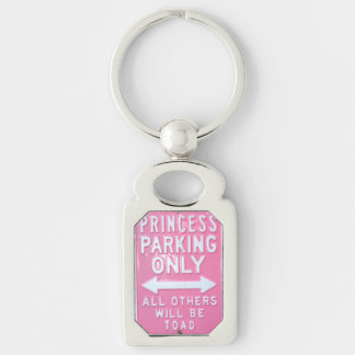 Princess parking only keychain