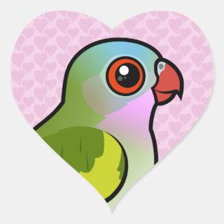 Princess Parrot Heart Sticker