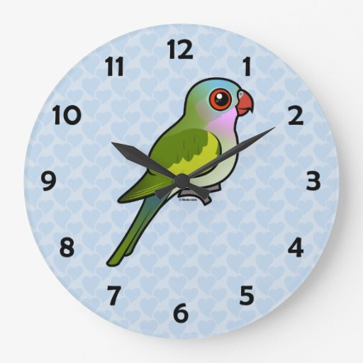 Princess Parrot Large Clock