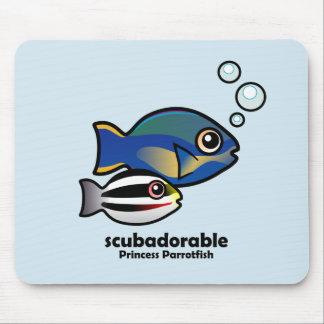 Princess Parrotfish with baby Mouse Pad
