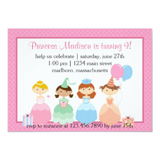Princess Party 5x7 Paper Invitation Card