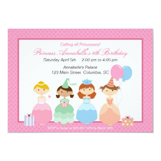 Princess Party Card