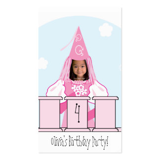 Princess Party Favor Tag Business Card