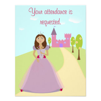 Princess Party Invitation 4 5 x5 5