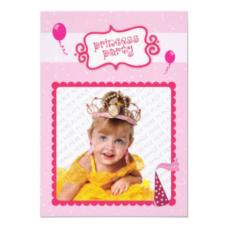 Princess Party Personalized Announcements