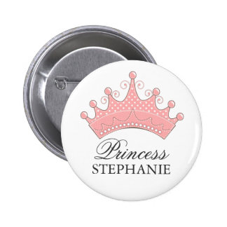 Princess Party Personalized Crown Button