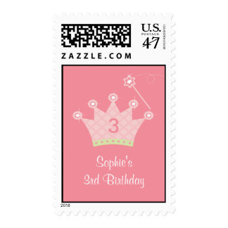 Princess Party Personalized Postage Stamp
